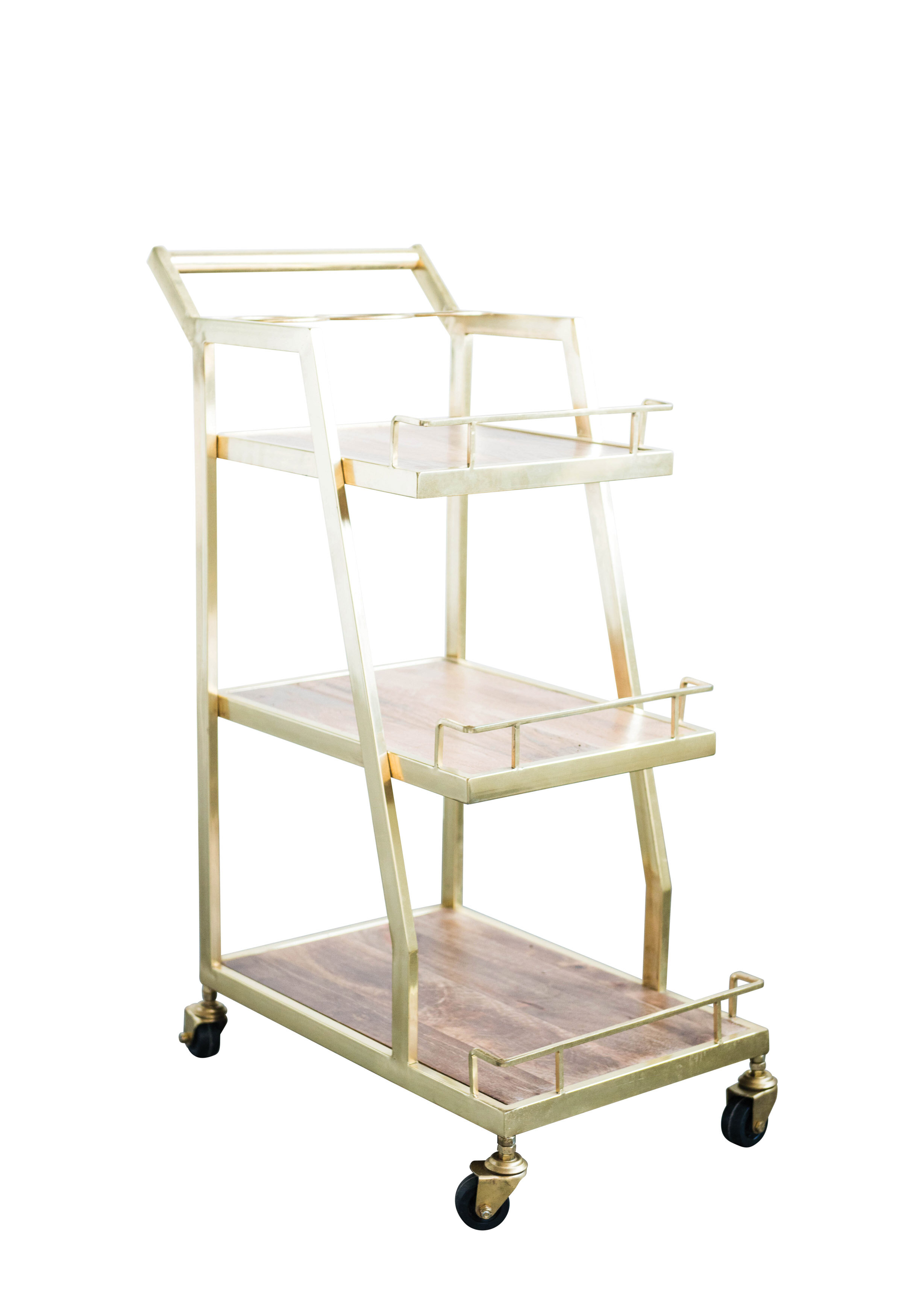 Porto Wood Metal 3 Tier Bar Cart Allmodern