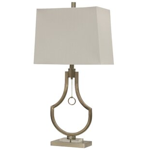Vancamp Metal and Acrylic Contemporary 32 Table Lamp