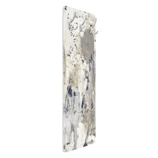 Homage To Taupe I Wall Mounted Coat Rack By Symple Stuff