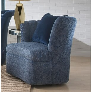 Reyes Swivel Slipper Chair by Everly Quinn
