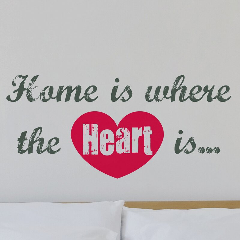 Home Is Where The Heart Is Quote Mesmerizing Brewster Home Fashions Euro Home Is Where The Heart Is Quote Wall
