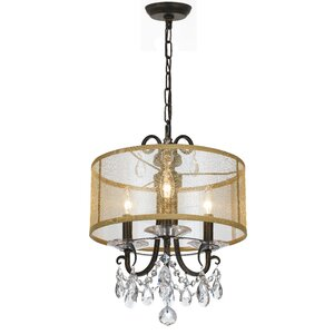Roesler 3-Light Modern Drum Chandelier