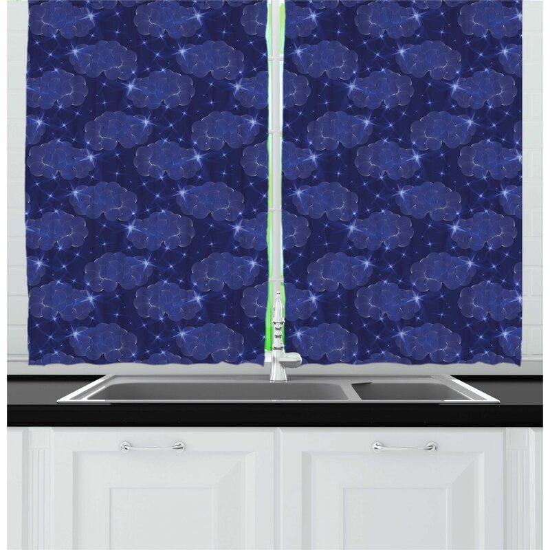 Night Sky Elements Kitchen Curtain