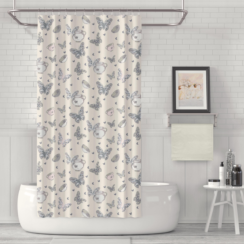 Doran Bowls And Butterflies Luxury Single Shower Curtain