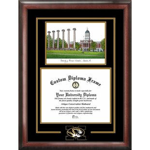 NCAA Missouri Tigers Spirit Graduate Diploma with Campus Images Lithograph Frame By Campus Images