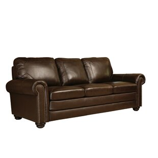 Darby Home Co Bolling Leather Sofa