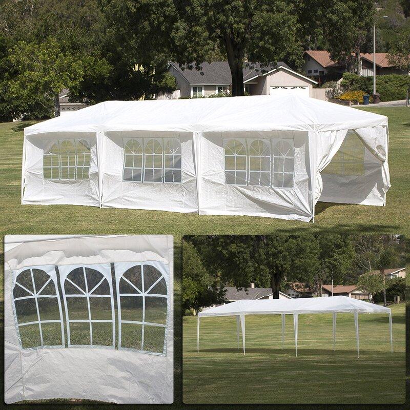 10 Ft. W x 30 Ft. D Steel Party Tent