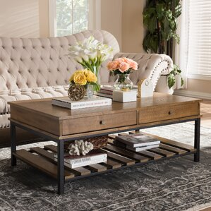 Gianetta Rustic Industrial Style Coffee Table by 17 Stories