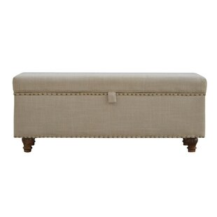 Pruneda Hallways Studded Lid-up Linen Bench