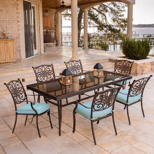 Darby Home Co Barrowman 7 Piece Dining Set with Cushions