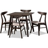 Tamsin 5 Piece Solid Wood Dining Set by Foundry Select