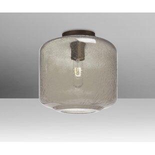 Brayden Studio Spero Ceiling Cylinder 1-Light Semi Flush Mount