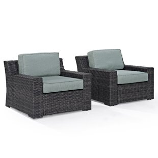 Linwood Deep Seating Patio Chair with Cushions (Set of 2)