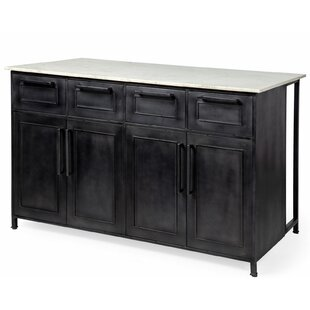 Amani Kitchen Island Marble 17 Stories