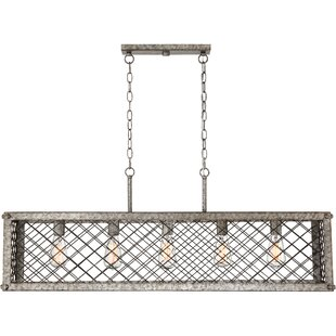 Williston Forge Dillion 5-Light Kitchen Island Pendant