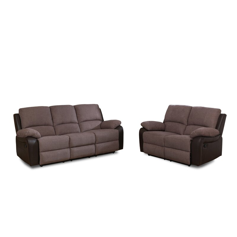Weside 2 Piece Reclining Sofa Set