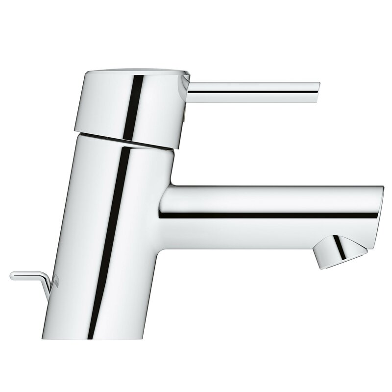 GROHE Concetto 1.2 GPM single Handle Low-Arc bathroom faucet w//Drain