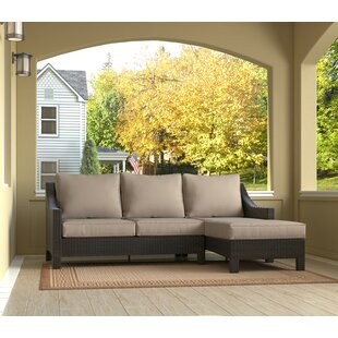 Tahoe Outdoor Wicker Patio Sectional with Cushions by Serta at Home