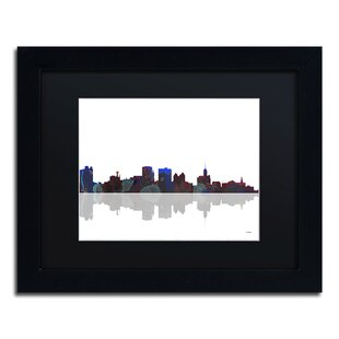 45ee92e20b2 Buffalo New York Skyline by Marlene Watson Framed Graphic Art