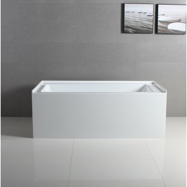 Kingston Brass Aqua Eden 60 X 32 Alcove Soaking Acrylic Bathtub Reviews Wayfair