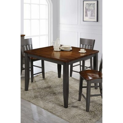 Adalard Solid Wood Dining Table Base Color: Gray