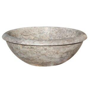 Affordable Rim Top Natural Stone Circular Vessel Bathroom Sink By TashMart