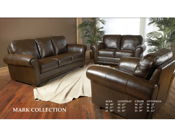 Luke Leather Mark Leather Configurable Living Room Set & Reviews ...