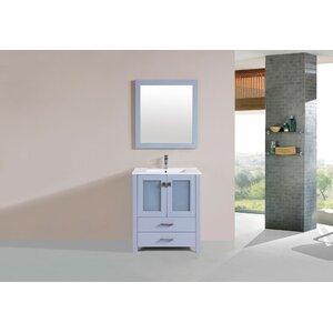 Lapp Modern 30 Single Bathroom Vanity Set with Mirror