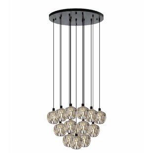 Forester Crystal Round 19-Light Cluster Pendant by Everly Quinn