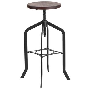 Chrissy Adjustable Height Swivel Bar Stool Williston Forge