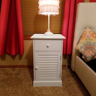 Krupp Wooden 1 Drawer Nightstand