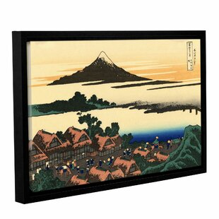 Artwall Katsushika Hokusais The Fields Of Sekiya By The Sumida River Aluminum Print Artwork 24 X 36 Home Kitchen Posters Prints