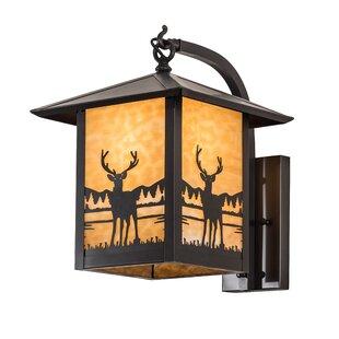 Loon Peak Leola Deer Creek Outdoor Wall Lantern
