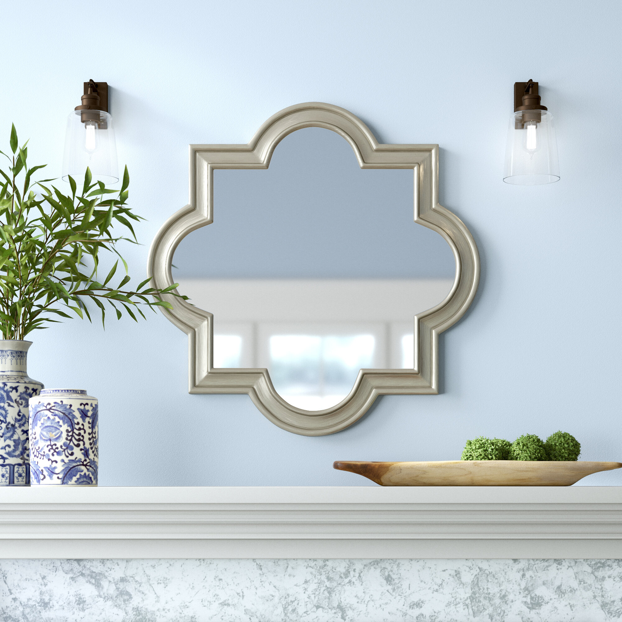 Daisi Arch/Crowned Champagne Top Wall Accent Mirror