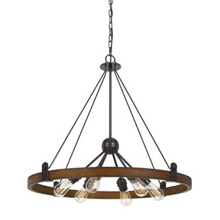 Purser 6-Light Wagon Wheel Chandelier