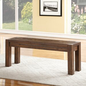 Gibson Wood Two Seat Bench by Loon Peak
