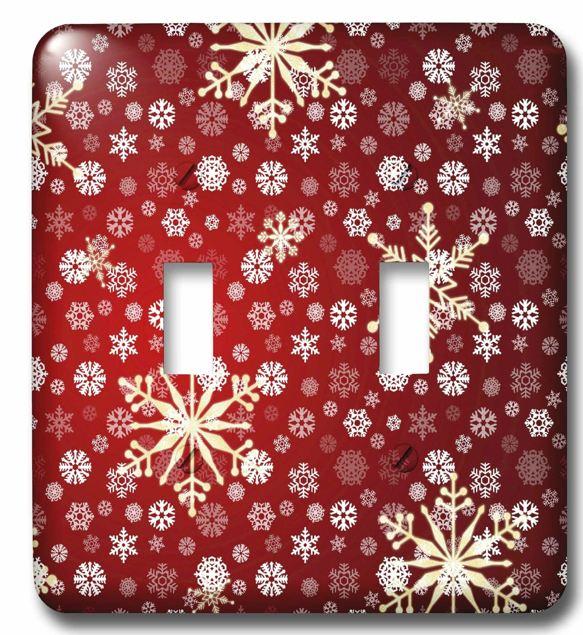 3drose Christmas Snowflakes 2 Gang Toggle Light Switch Wall Plate Wayfair