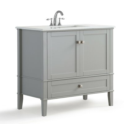 "simpli home chelsea 37"" single bathroom vanity & reviews 