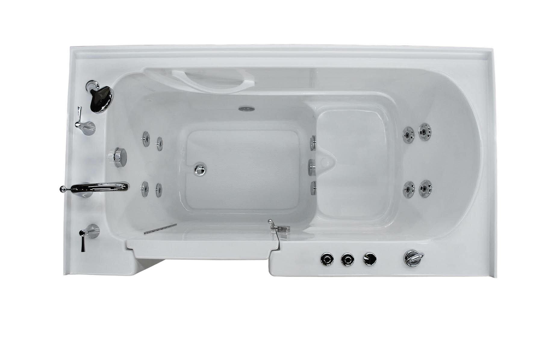 Therapeutic Tubs Aspen 60 X 32 Walk In Whirlpool Bathtub Wayfair