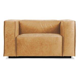 Blu Dot Cleon Leather Lounge Chair