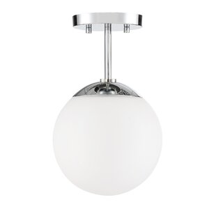 Pomeroy 1-Light Semi Flush Mount by Orren Ellis