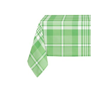 Pascual Plaid Green Table Cloth