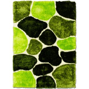 Hand-Tufted Green/Black Area Rug By AllStar Rugs