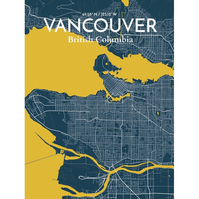Ourposter vancouver city map graphic art print poster in amuse vancouver city map graphic art print poster in amuse gumiabroncs Choice Image