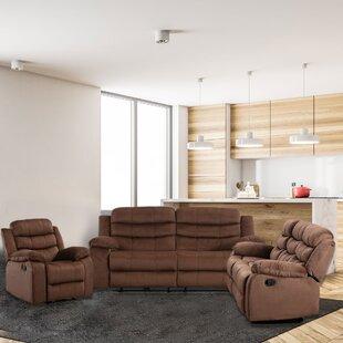 Wyatt 3 Piece Reclining Living Room Set by Latitude Run