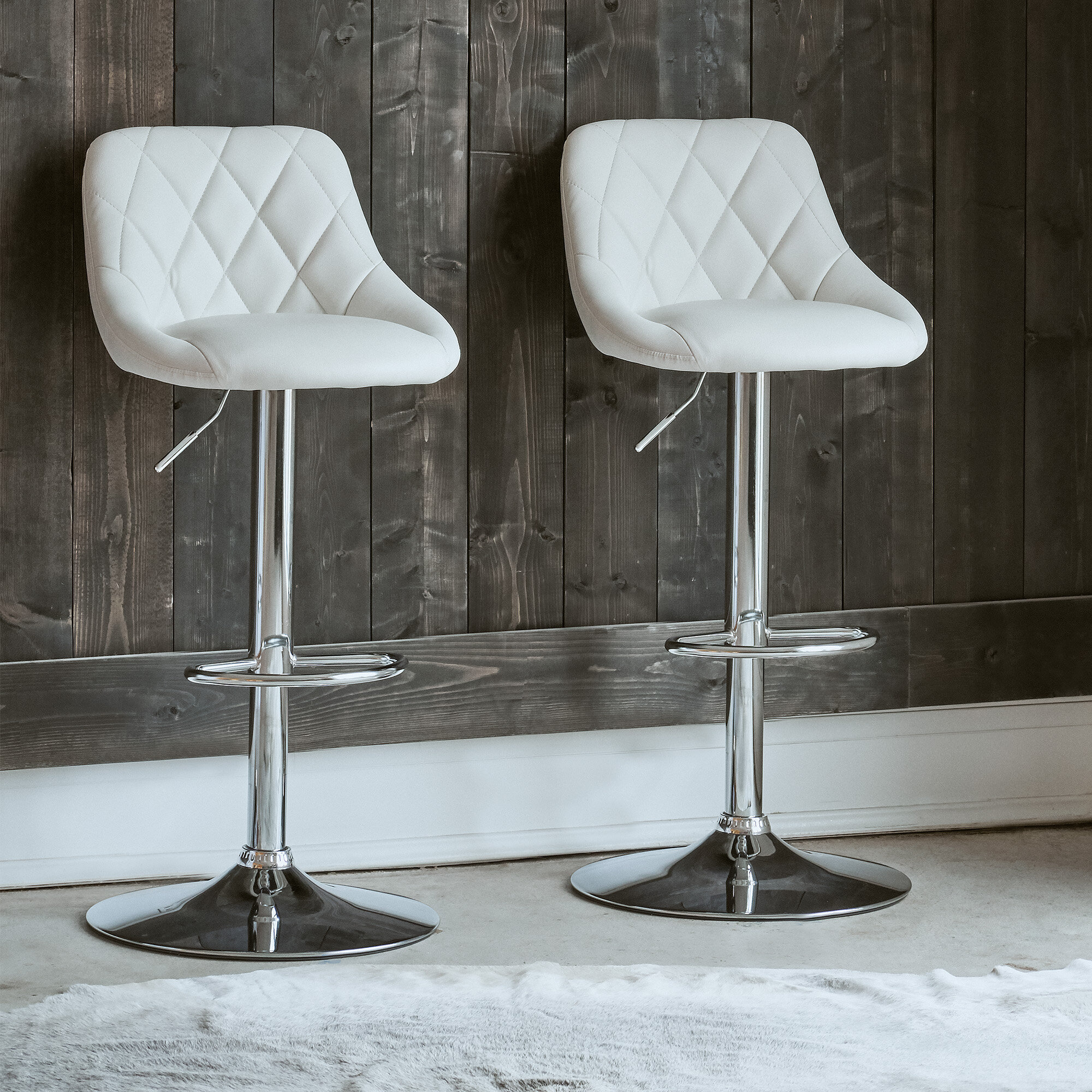 Amani Swivel Adjustable Height Bar Stool