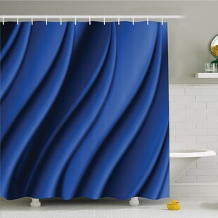Compare & Buy Ocean Wave Inspired Design with Digital Reflection Abstract Shower Curtain Set By Ambesonne