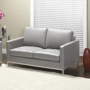 244 Series Regency Leather Loveseat by Lind Furniture