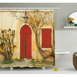 Aged Doors Tuscan House Shower Curtain Set