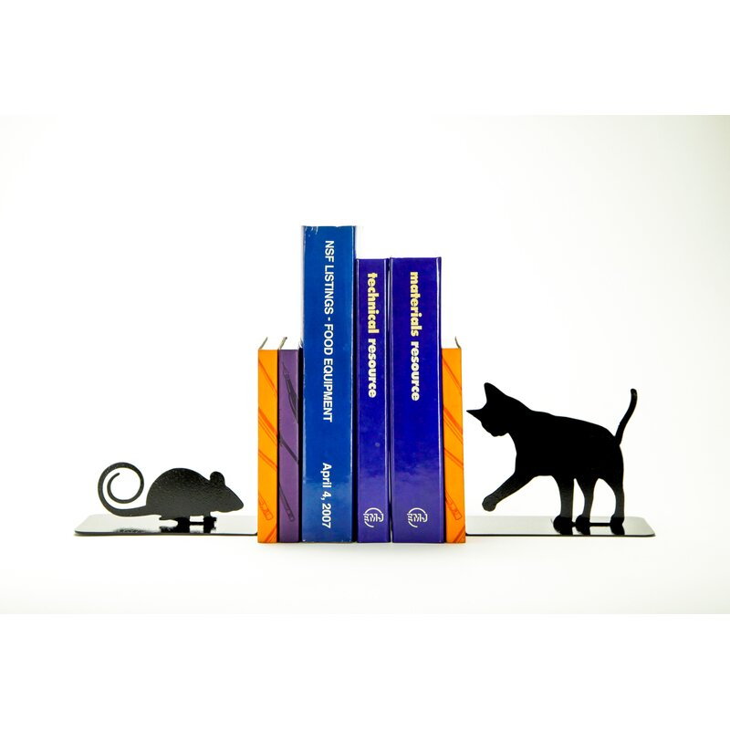 Charlton Home Cat And Mouse Bookends Wayfair